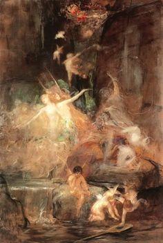 The Poet on Earth by Gyzis Nikolaos Greek Symbolist Painter Edmund Dulac, Abstract Drawings, Art Drawings, Greek Paintings, Art Nouveau, Jesus Painting, Social Art, Greek Art, 10 Picture