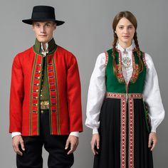 FolkCostume&Embroidery: Overview of Norwegian Costumes part the West. Norwegian Men, Norwegian Clothing, Norwegian Vikings, Folk Costume, Costumes, Folk Clothing, Beauty Trends, Traditional Dresses, Going Out