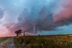 Beautiful sunset tornado near Dexter, KS on 9/1/14.