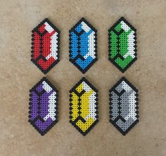 Classic Rupees - LoZ Perler Bead Sprites by MaddogsCreations on DeviantArt