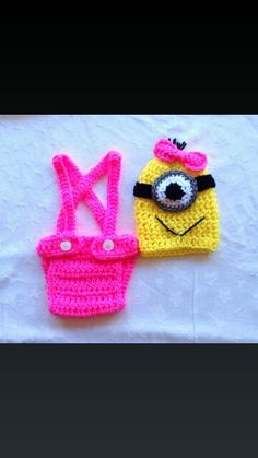 Baby Girl Despicable Me Crochet Outfit. Despicable Me Minion Outfit.  sc 1 st  Pinterest & Despicable Me Minion Crochet Outfit. Newborn Halloween Costumes ...