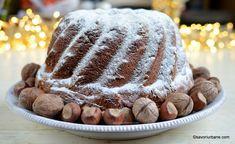 Guguluf pufos cu nucă și alune de pădure - cozonac în formă circulară | Savori Urbane Sweets Recipes, Desserts, Sweet Bread, Tiramisu, Good Food, Ethnic Recipes, Fruit Cakes, Bundt Cakes, Sweets