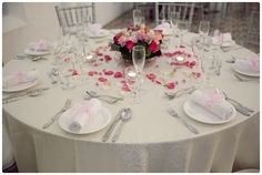 Table Arrangements For Wedding Receptions Blossom Pink | visit www.lovelyweddingideas.com