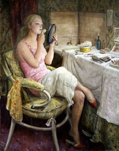 """""""The Dressing Room""""  ~  Dame Laura Knight (1877-1970)"""
