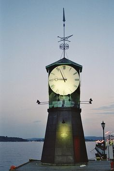 Norway Clocktower Lighthouse ~ at the Oslo port, Norway