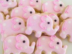 Pink Elephant Mini Cookies- 2 Dozen. $33.95, via Etsy.