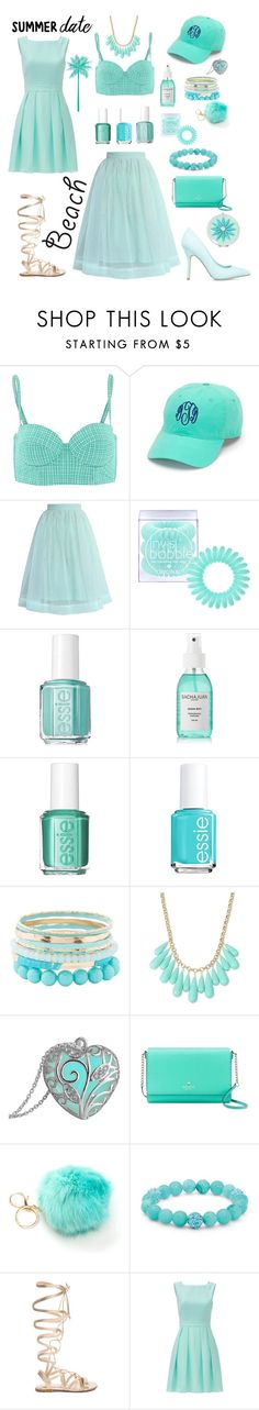 """Summer date on the beach ☺️choose your way!"" by beawesometoday ❤ liked on Polyvore featuring Calipige, Chicwish, Invisibobble, Essie, Sachajuan, Charlotte Russe, INC International Concepts, Kate Spade, Palm Beach Jewelry and Gianvito Rossi"