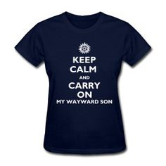 Supernatural Winchester t-shirt Carry on my Wayward son $22.00, via Etsy. Want.