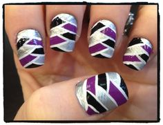 Nailed Daily: Day 161 - Braided Color Block
