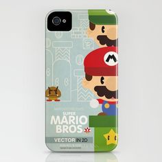 Super Mario Bros Hard Iphone 4/4S case FREE by TICKandPICK on Etsy, $7.99