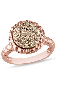 Rose Druzy Gemstone Ring...right hand ring to go with my future Rose Gold Wedding Ring!!!!! Hint, hint, HINT!!! :)