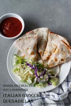 Trader Joe's MEAL HACK : just 4 ingredients from Trader Joe's and you can make these delicious ITALIAN GNOCCHI QUESADILLAS in no time! Perfect lunch/dinner for busy days/nights and super delish! I have always loved Trader Joe's . Let me tell that it is NOT A SPONSORED POST by any means. I have bought everything...Read More »