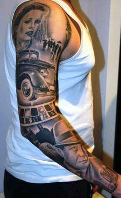 Tattoo Star Portraits Roulett  - http://tattootodesign.com/tattoo-star-portraits-roulett/  |  #Tattoo, #Tattooed, #Tattoos