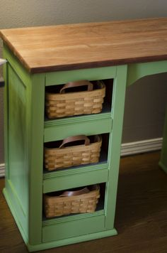 farmhouse desk makeover, I like this (eviemethugh)