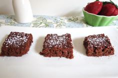 The most moist fudgey brownies I ever made!  Get this only 71 calories and made with Peanut Butter!  No one would have a clue!  Made regular household staples!