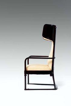 Josef Hoffmann, upholstered Armchair image 3