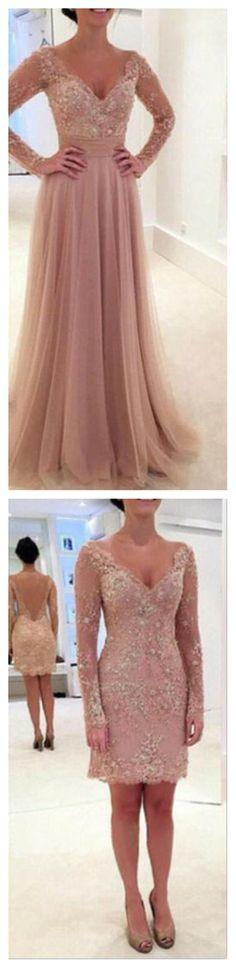 Stunning A-line prom dress.