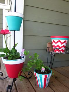 DIY Flower Pot Display