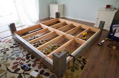 DIY Bed Frame Plan: With For Legs And Frame.