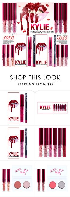 """KYLIE - THE VALENTINE'S COLLECTION"" by yurisnazalieth ❤ liked on Polyvore featuring Kylie Cosmetics"