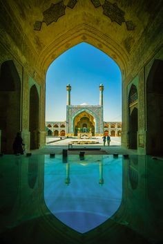 Jameh Mosque of Isfahan, Iran. The Jāmeh Mosque of Isfahān (Persian: مسجد جامع اصفهان – Masjid-e-Jāmeh Isfahān) is the grand, congregational mosque (Jāmeh) of Isfahān, within Isfahān Province, Iran. Persian Architecture, Beautiful Architecture, Art And Architecture, Mosque Architecture, Islamic World, Islamic Art, Beautiful Mosques, Beautiful Places, Sainte Sophie