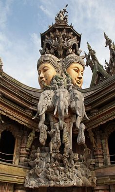 Soul Mission astral visit today as a premonition to what's in store.: The sanctuary of truth (El santuario de la verdad) Pattaya Phuket - Bangkok Laos, Temple Architecture, Ancient Architecture, India Travel, Thailand Travel, Bangkok Thailand, Phuket, Pattaya Thailand, Hindu Art