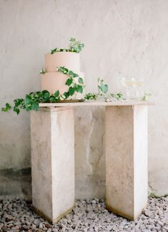 simple #wedding cake with greenery | Photography: Jose Villa Photography - josevillaphoto.com  Read More: http://www.stylemepretty.com/2015/06/18/elegant-mexico-wedding-inspiration/