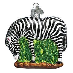 Old World Christmas Zebra Glass Blown Ornament -- This is an Amazon Affiliate link. Read more reviews of the product by visiting the link on the image.
