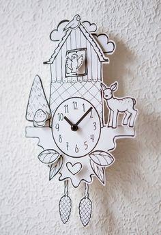 paper cuckoo clock (etsy shop: hellopetie)