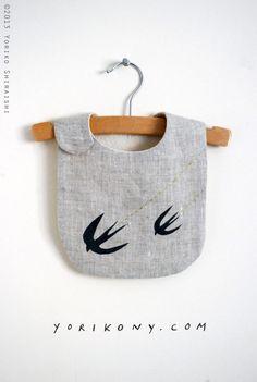 swallow bib - linen bib for baby or toddler | ships in 1-2 weeks