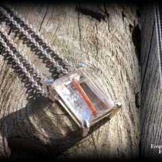 Collier en argent 925 et quartz rutile