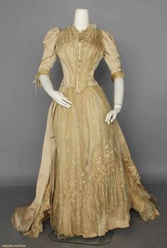 Wedding Dress, 1880, Augusta Auctions, MAY 13th & 14th, 2014, Lot 326
