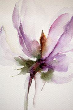 Original Watercolor Painting of Purple Lavender Flower - Flower of My Heart…