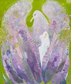 "Saatchi Online Artist Yulia Luchkina; Painting, ""Birdies. "" #art"