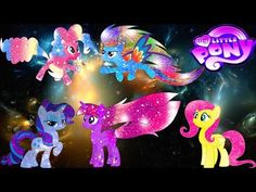 My Little Pony Transforms Equestria Girls Dazzlings Galaxy Color Swap - MLP Coloring Videos For Kids - YouTube