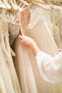 Kaitlin Keegan of Blonde Expeditions stopped by the BHLDN Upper East Side store to try on wedding dresses. Click through to see more.   #BHLDNues