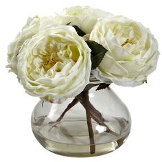 Nearly Natural Fancy Rose in Vase & Reviews | Wayfair