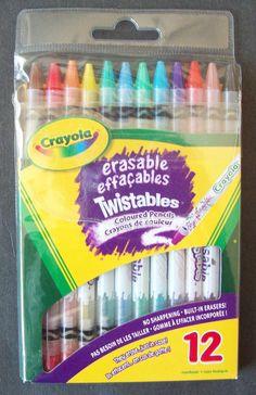 Crayola Erasable Twistables Coloured Pencils With Built-in Erasers on Pencils #Crayola