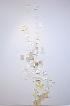 """create a map of the city you are living in with only directions from strangers written on scraps of paper """"Nobutaka Aozaki hits the streets of Manhattan, asking strangers for directions wherever he goes. However, Aozaki is not a tourist nor does he have a horrible sense of direction. This is """"From Here to There,"""" an ongoing art piece in which Aozaki is constructing a map of Manhattan based on hand-drawn directions people create for him."""""""