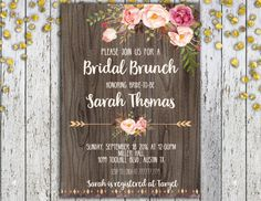 Bridal Brunch Invitation Printable Bridal by TiniTimeCreations