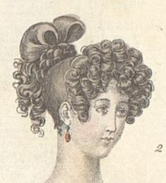 1828 Tagesfrisur