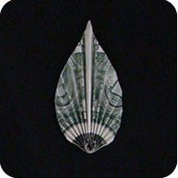 Money Origami Leaf