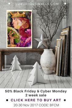 Black Friday & Cyber Monday 50% off all paintings & prints collections for your home or business at Luxuriouswalls.com. Checkout code: BFCM. Dates: 20-30 Nov 2017. Two-week home decor and interior design art sale event. Art as a gift - why not? Share with your friends. PIN to save offer.