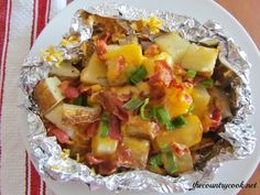 The Country Cook: Cheddar Bacon Potato Packets