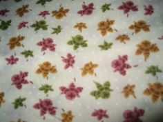 Fall Cotton Fabric/Flowers/Sewing/Crafts