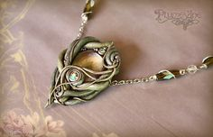 """Elven Wood Necklace - Just gorgeous!  Must remember to take a look at this seller's products after they return from """"vacation"""" in October."""