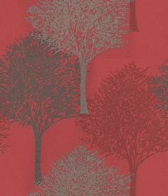 Entice (110100) - Harlequin Wallpapers - A beautiful overlapped tree design with a bead effect showing in silver/grey beads, deep red and grey on a red background - other colour ways available. Please request a sample for true colour match. Non-woven product but please paste the paper.