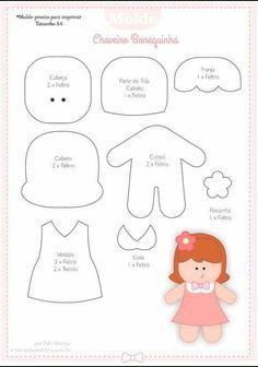 Lots f felt patterns. Felt Doll Patterns, Felt Crafts Patterns, Stuffed Toys Patterns, Skirt Patterns, Blouse Patterns, Sewing Patterns, Fabric Dolls, Paper Dolls, Rag Dolls