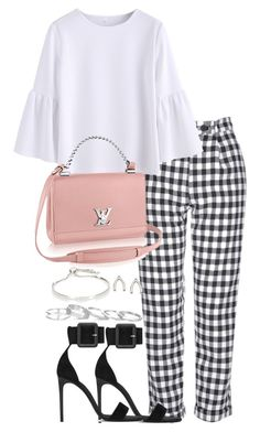 """""""Untitled #3572"""" by theeuropeancloset ❤ liked on Polyvore featuring Topshop, Yves Saint Laurent, Kendra Scott, Orelia and Monica Vinader"""