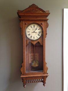 "Antique Waterbury Clock Co ""Regulator No 57"" Model Clock | eBay http://www.ebay.com/itm/321536782836?ssPageName=STRK:MESELX:IT&_trksid=p3984.m1555.l2649"